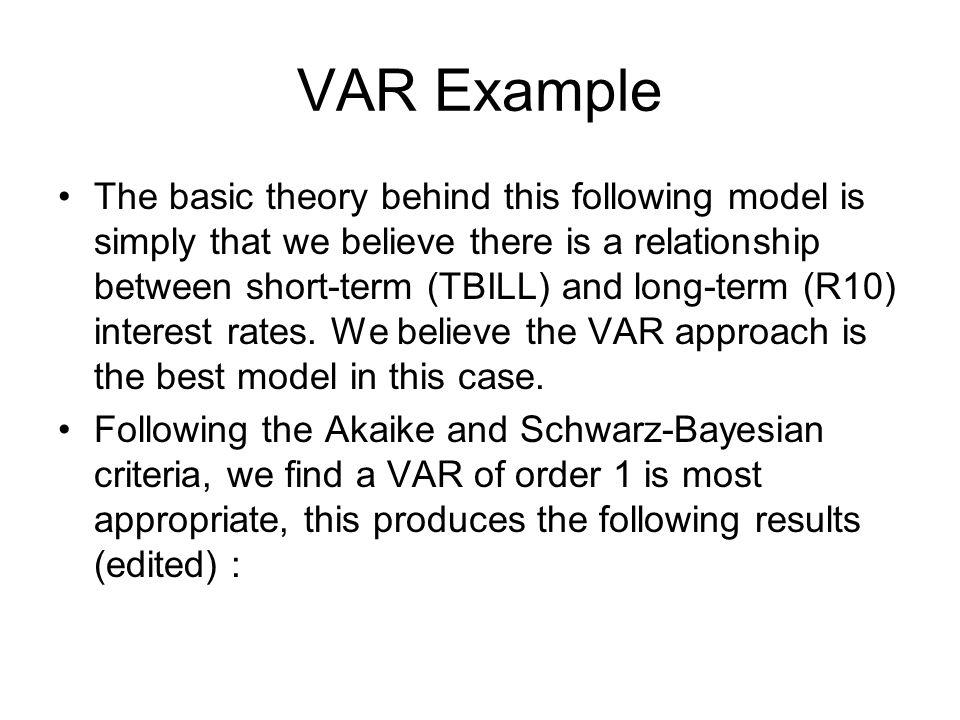 VAR Example
