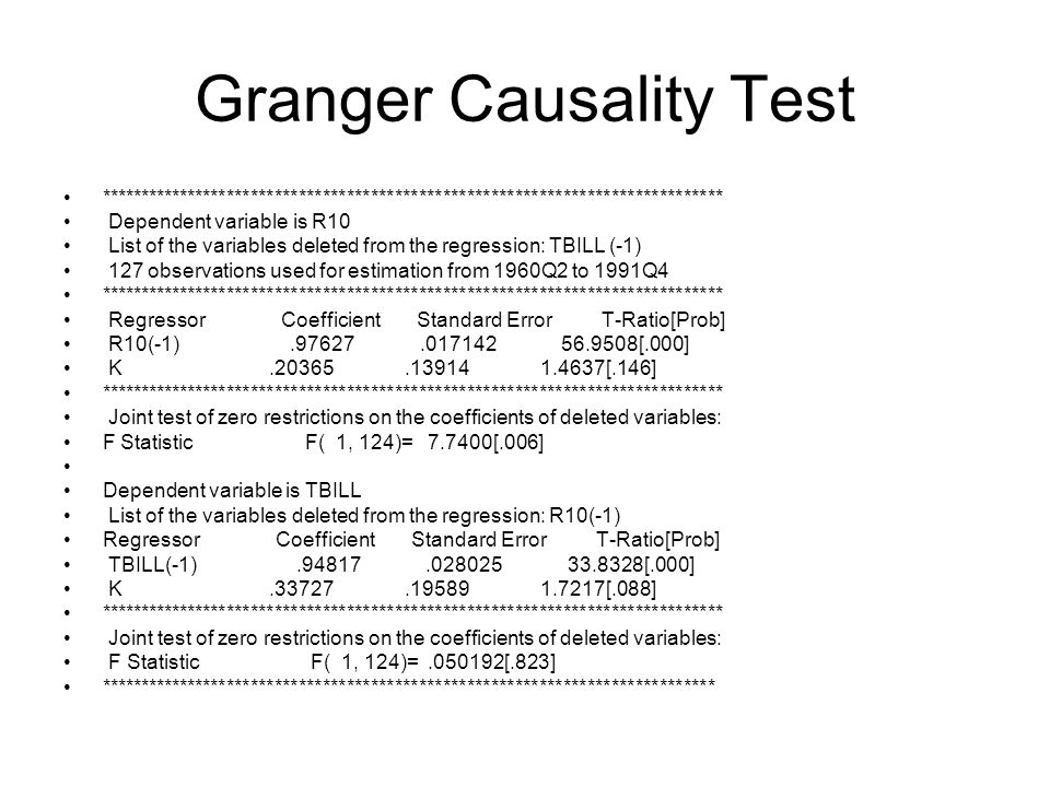 Granger Causality Test