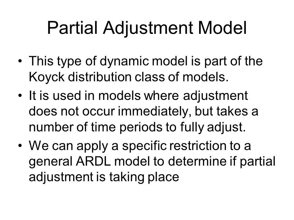 Partial Adjustment Model