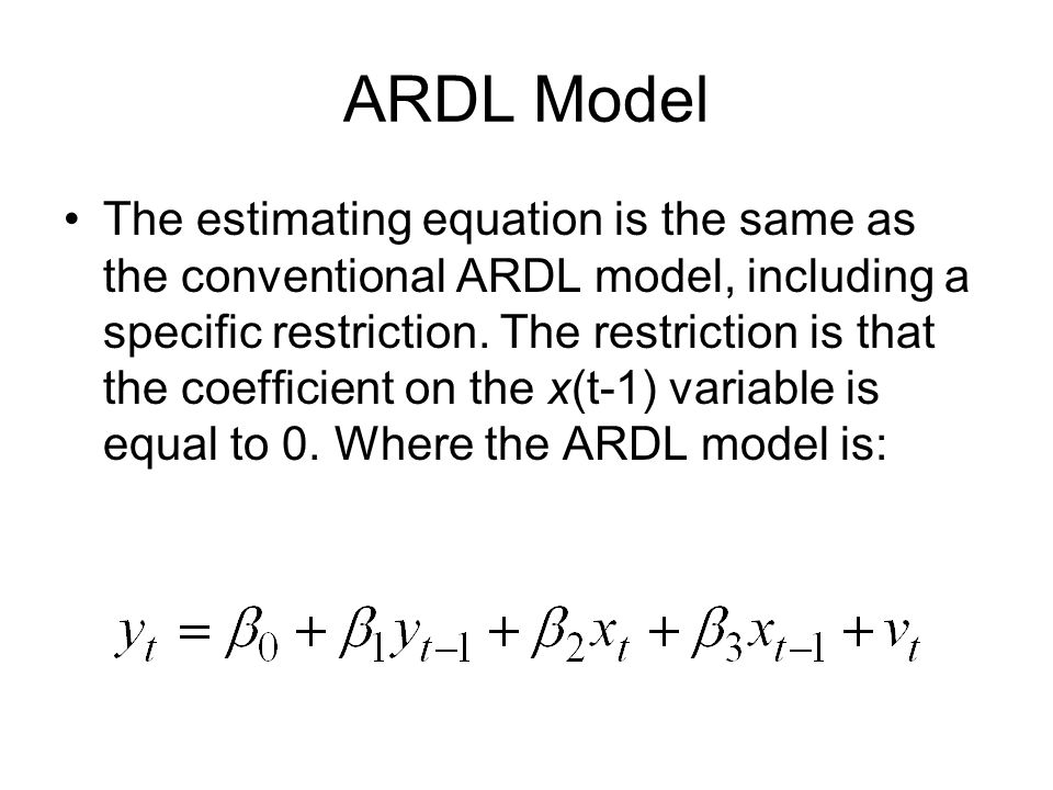 ARDL Model