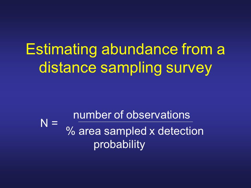 Estimating abundance from a distance sampling survey