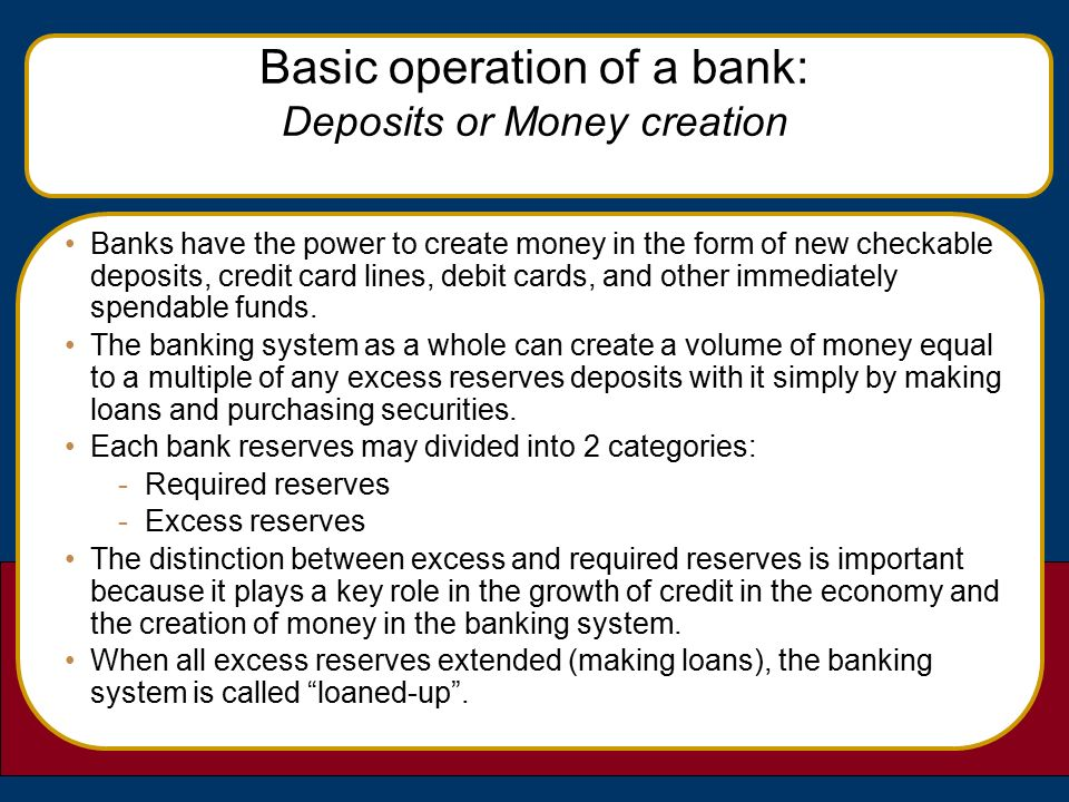 basic operations of commercial banks Charts 1, 2, and 3 present basic facts about web  source: 2001 survey of  commercial banks in the tenth federal reserve district informational web site  9.