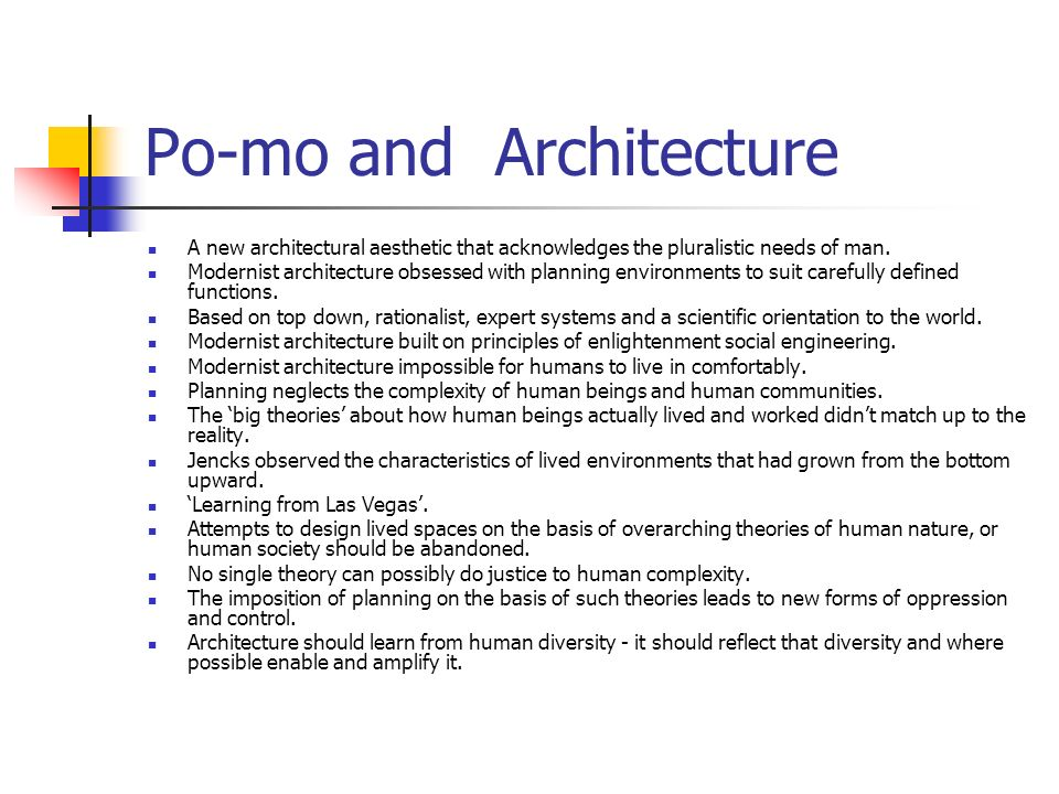 Po-mo and Architecture