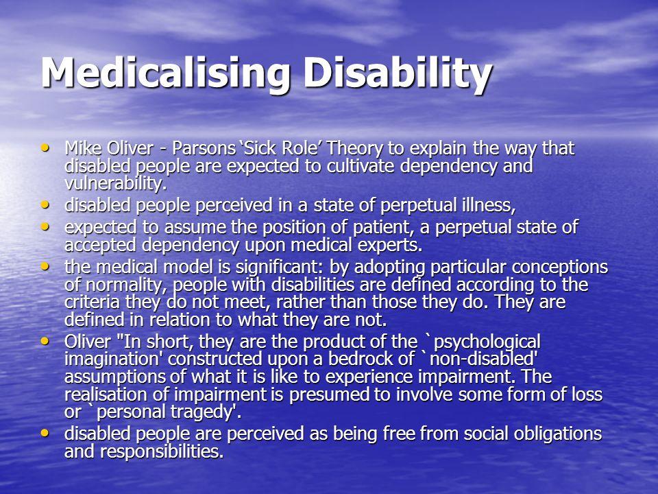Medicalising Disability