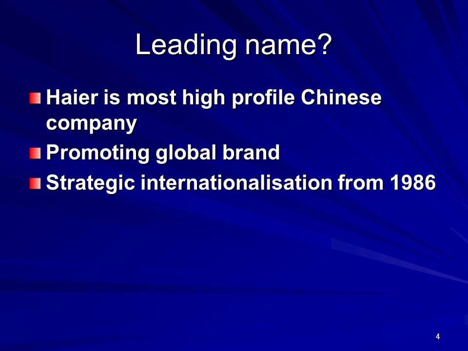 Leading name Haier is most high profile Chinese company
