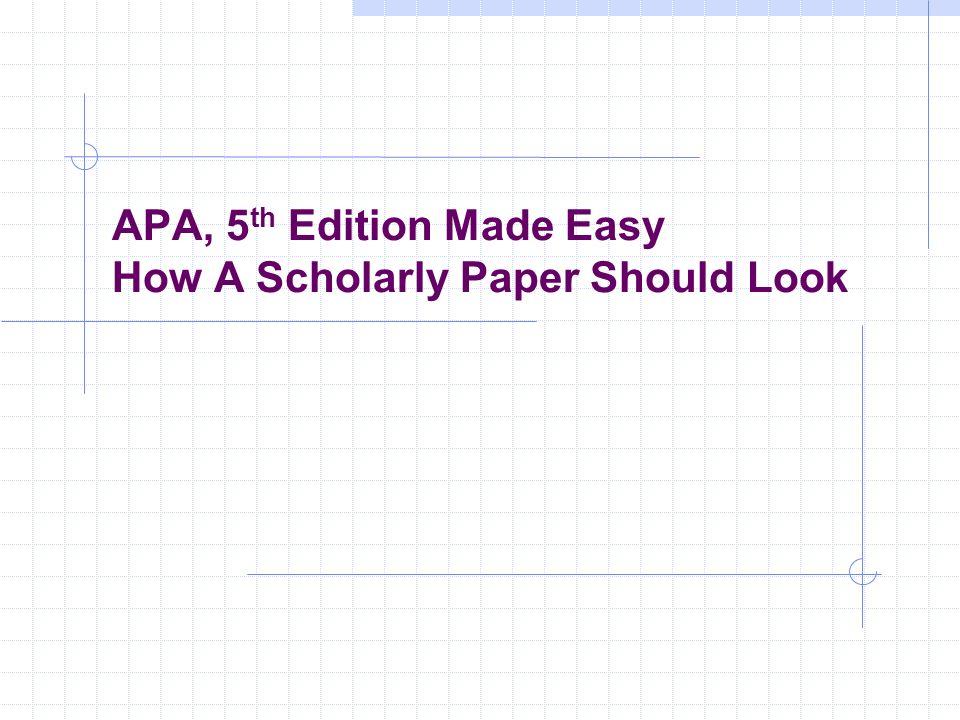Buying apa scholarly paper