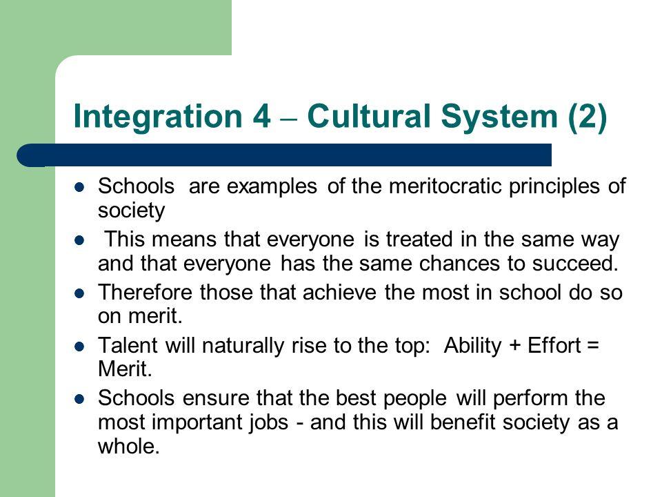 Integration 4 – Cultural System (2)