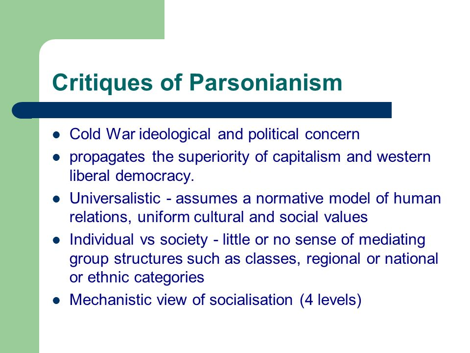 Critiques of Parsonianism