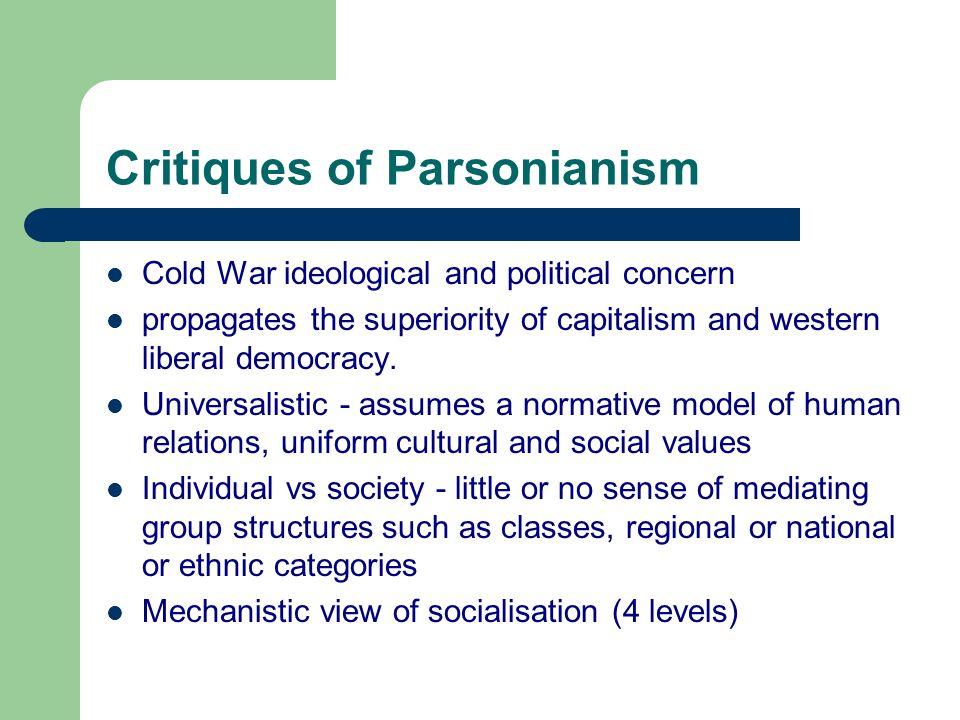 Critiques of Parsonianism