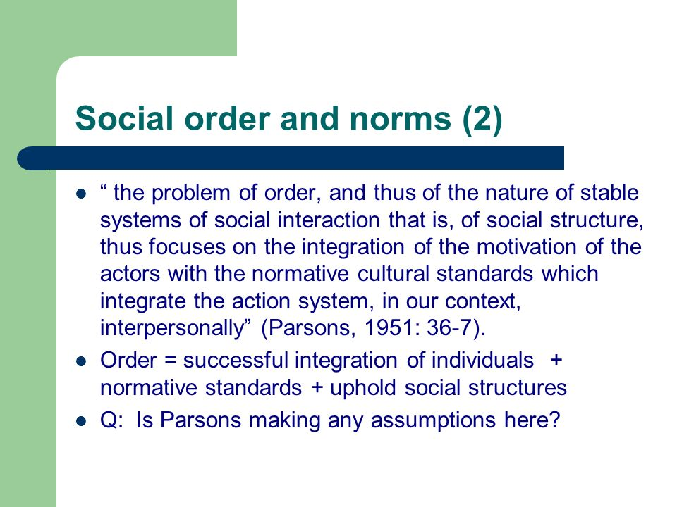 Social order and norms (2)