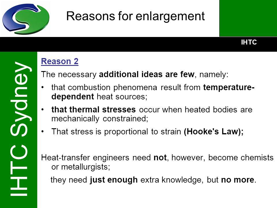 Reasons for enlargement