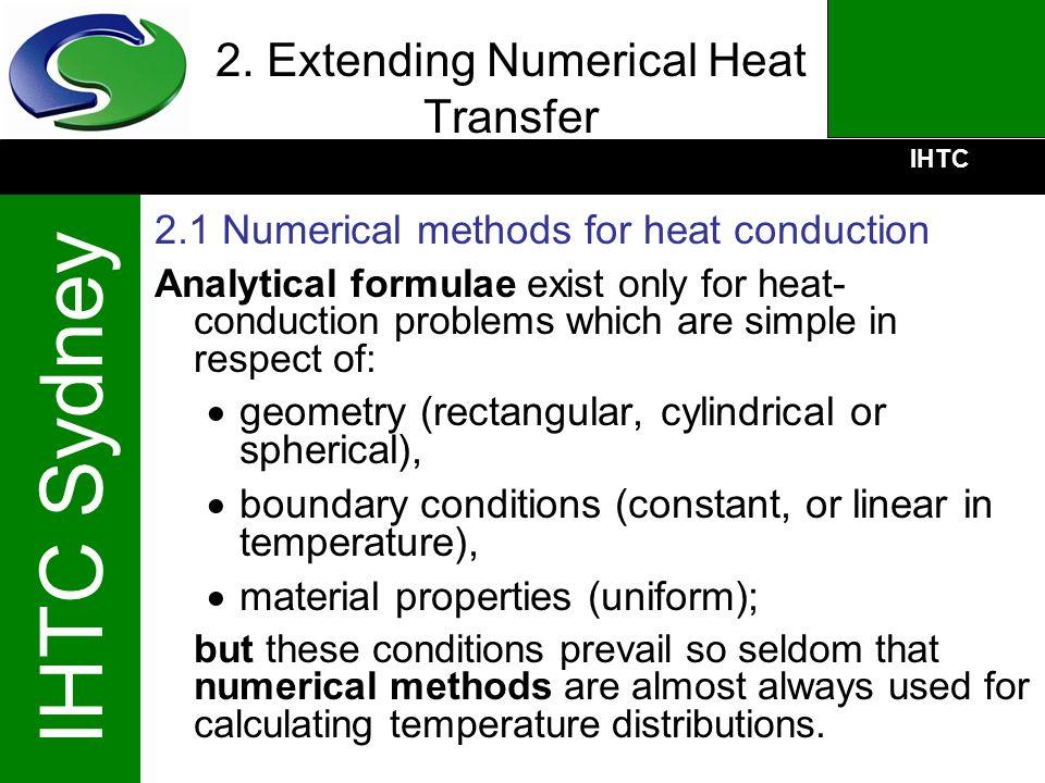 2. Extending Numerical Heat Transfer