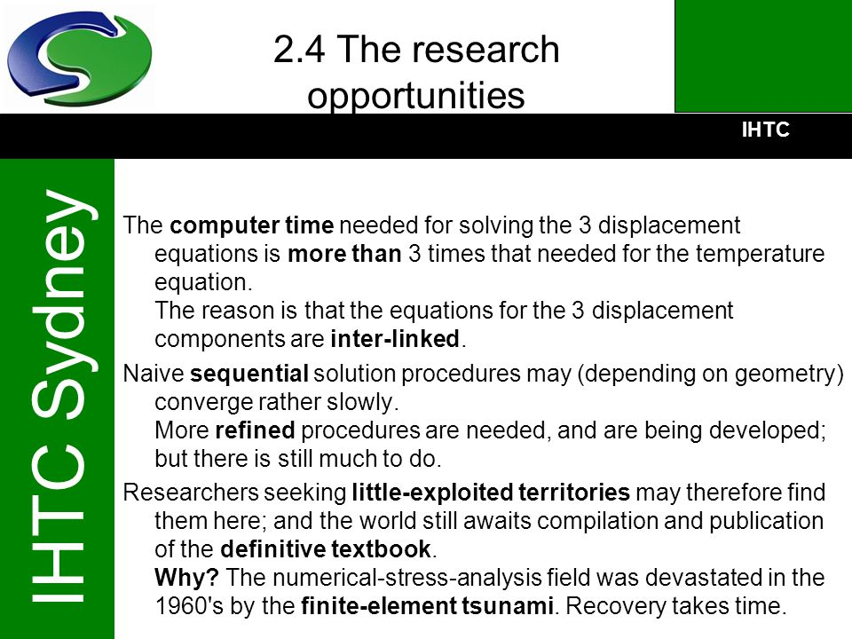 2.4 The research opportunities