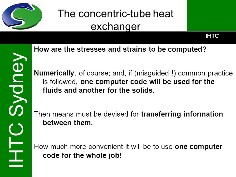 The concentric-tube heat exchanger