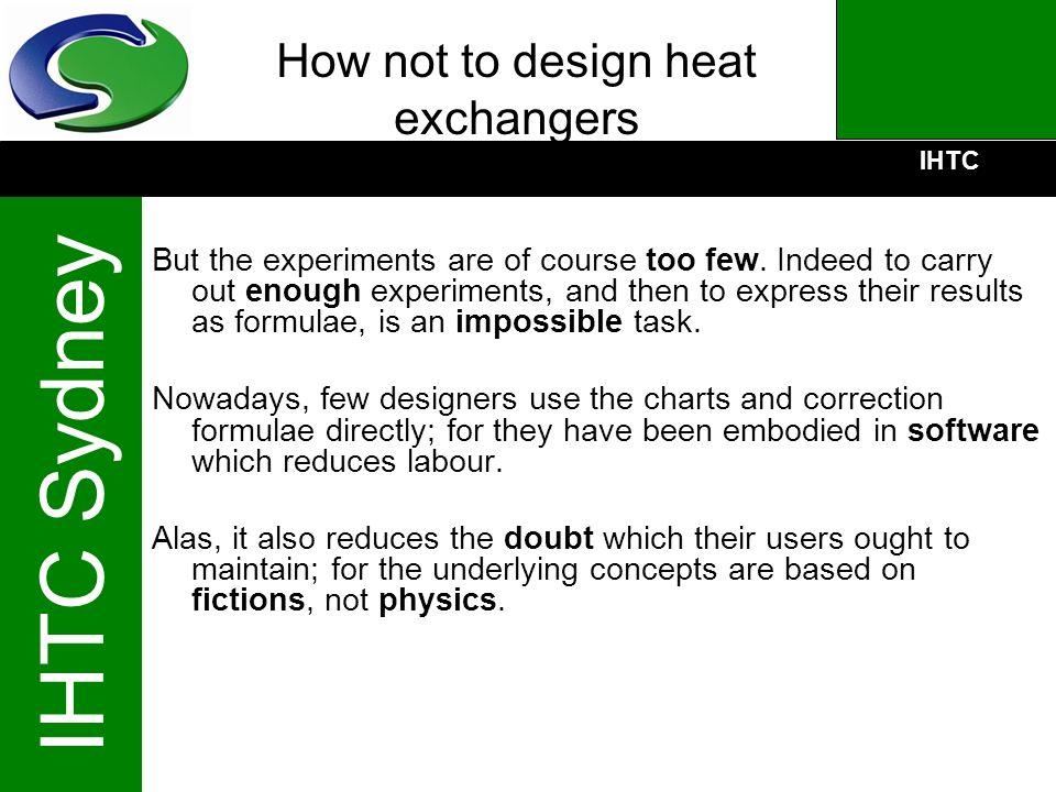 How not to design heat exchangers