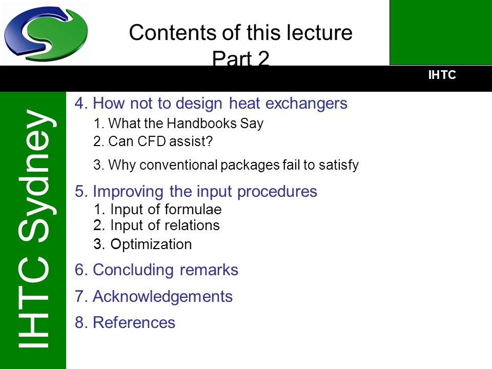 Contents of this lecture Part 2