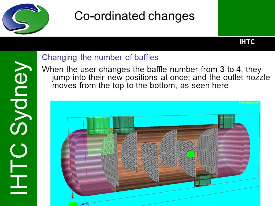 Co-ordinated changes Changing the number of baffles
