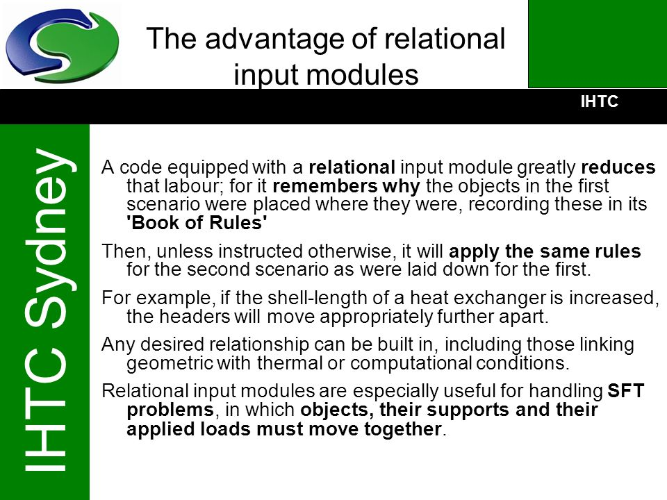 The advantage of relational input modules