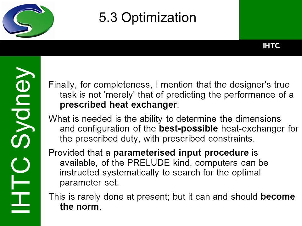 5.3 Optimization