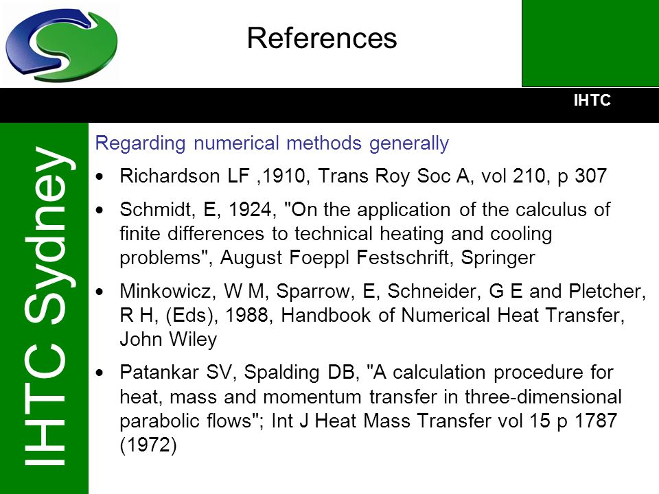 References Regarding numerical methods generally