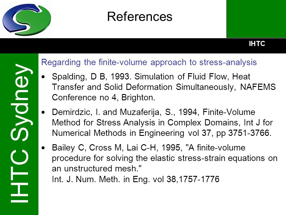 References Regarding the finite-volume approach to stress-analysis