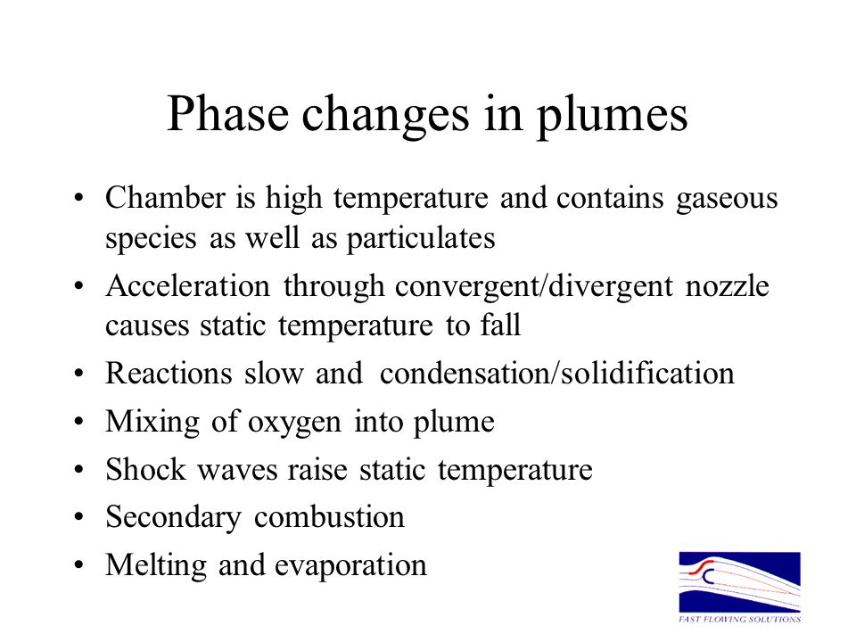 Phase changes in plumes