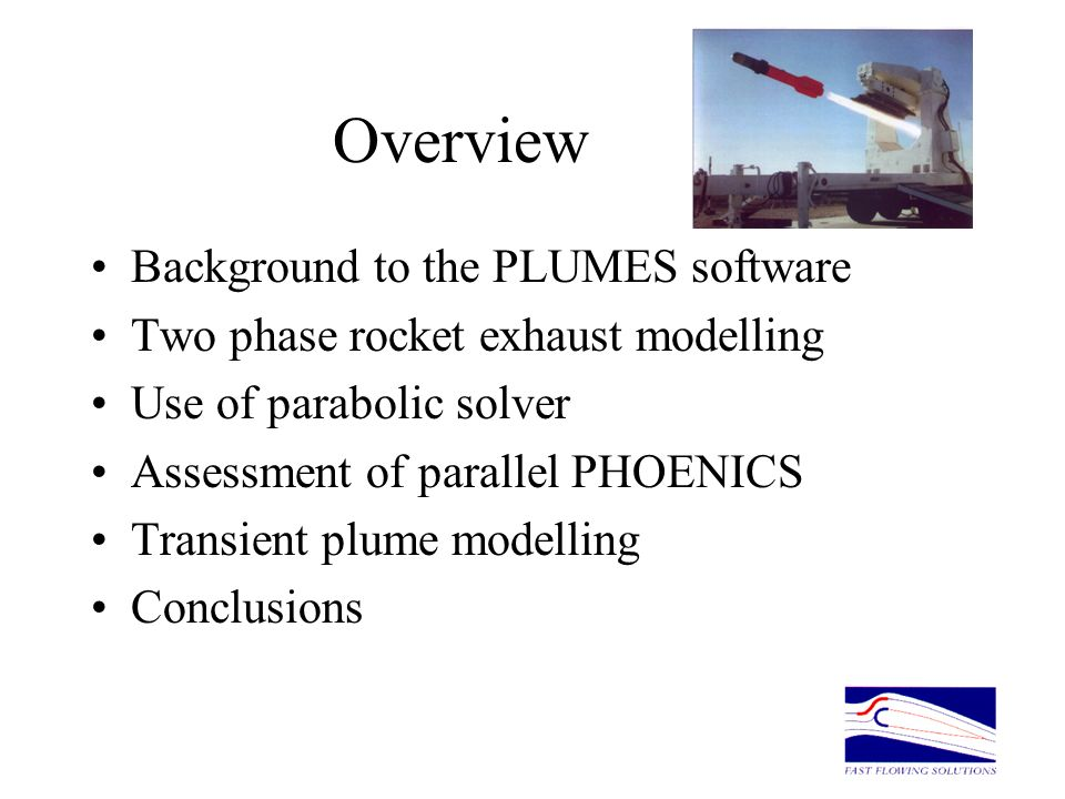 Overview Background to the PLUMES software