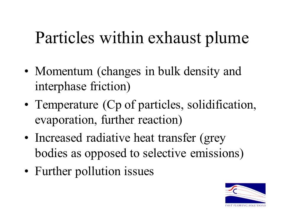 Particles within exhaust plume