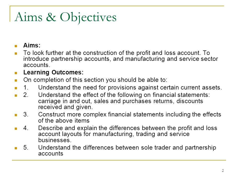 Aims & Objectives Aims: