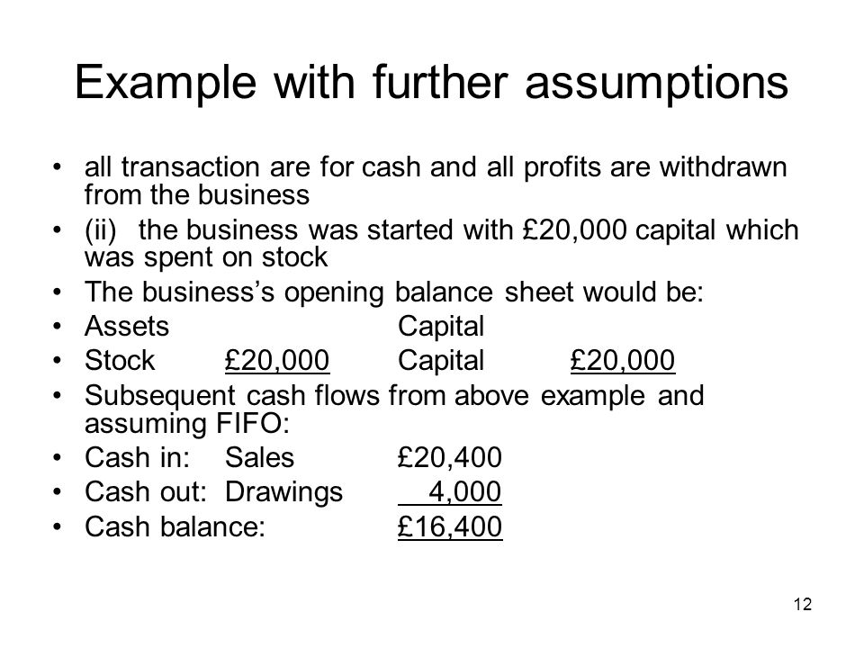 Example with further assumptions
