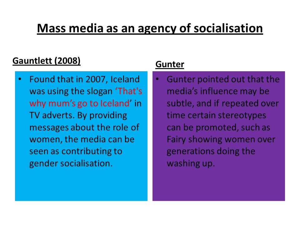 socialization gender messages in the Socialization - gender messages in the mass media how images on television/movies reinforce society's expectations of gender the most powerful form of mass.