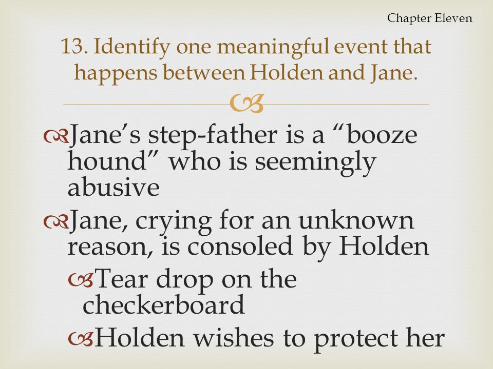 jane and holden relationship