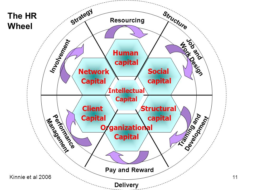 The HR Wheel Human capital Social Structural Network Capital Client