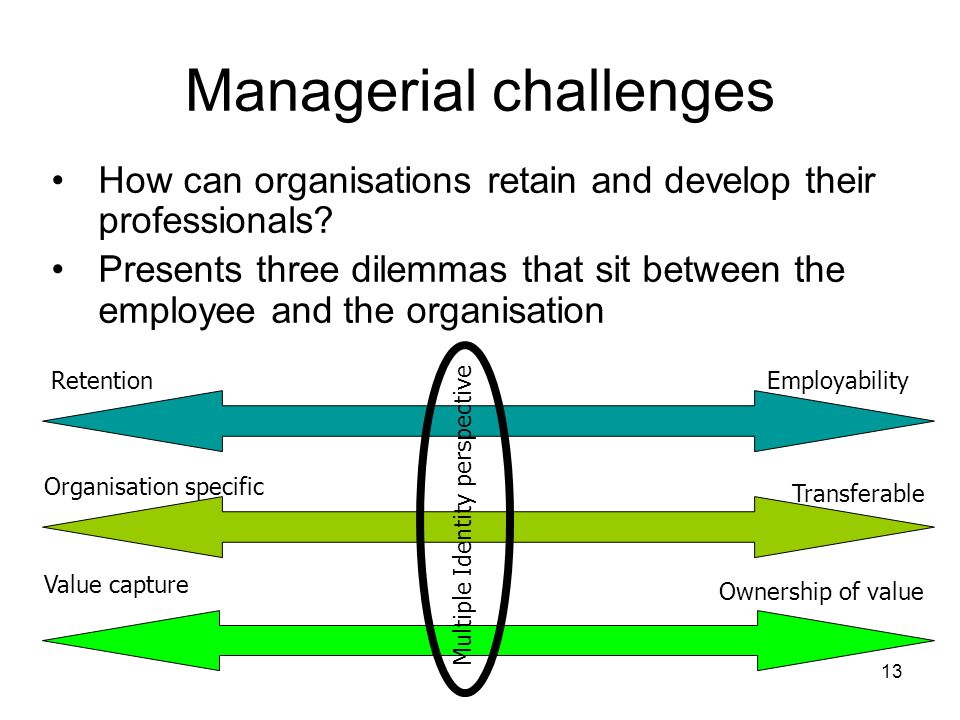 Managerial challenges