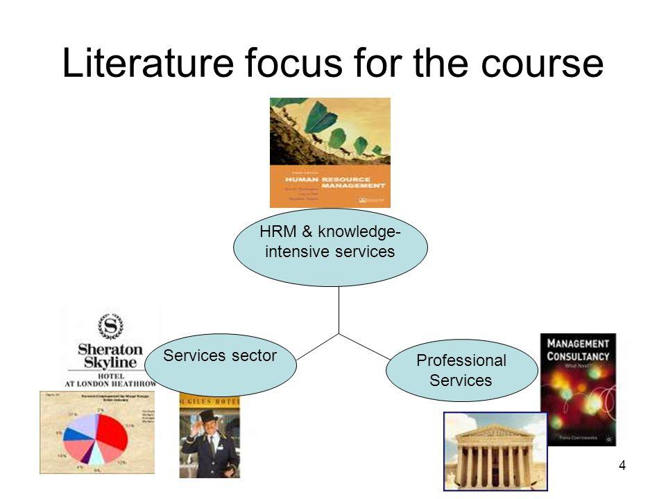 Literature focus for the course