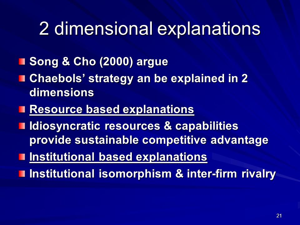 2 dimensional explanations