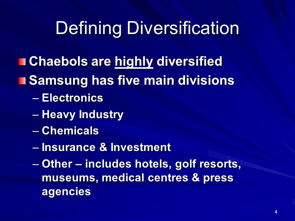 Defining Diversification