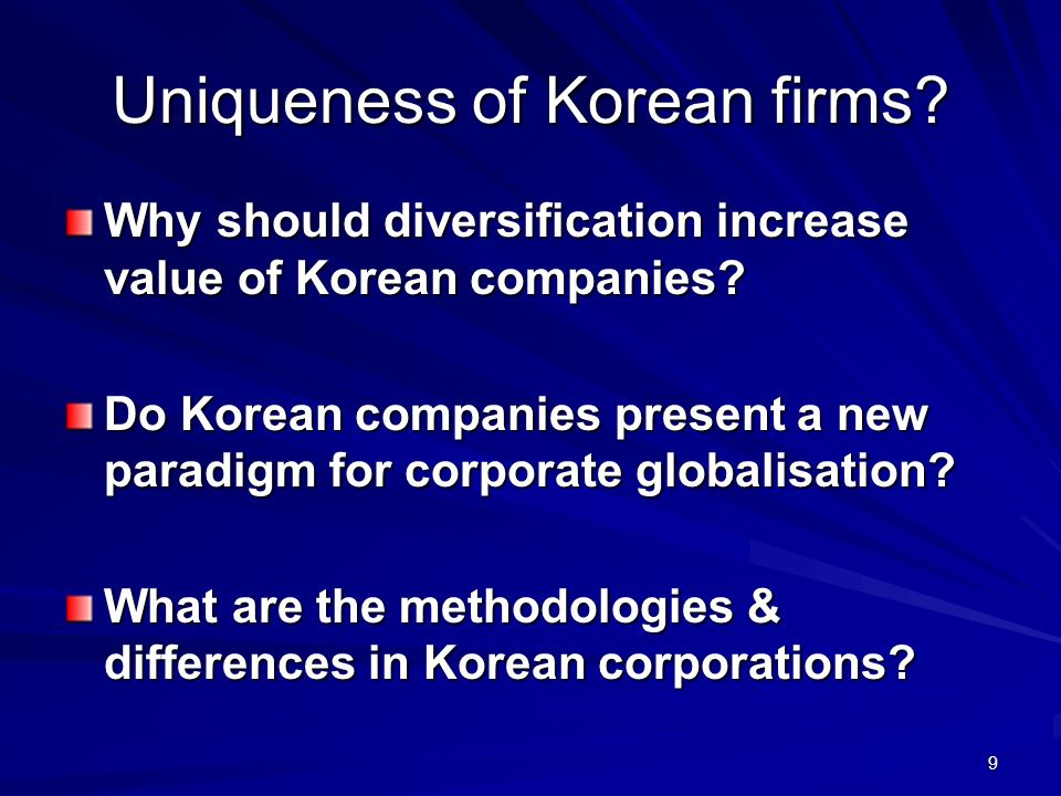 Uniqueness of Korean firms