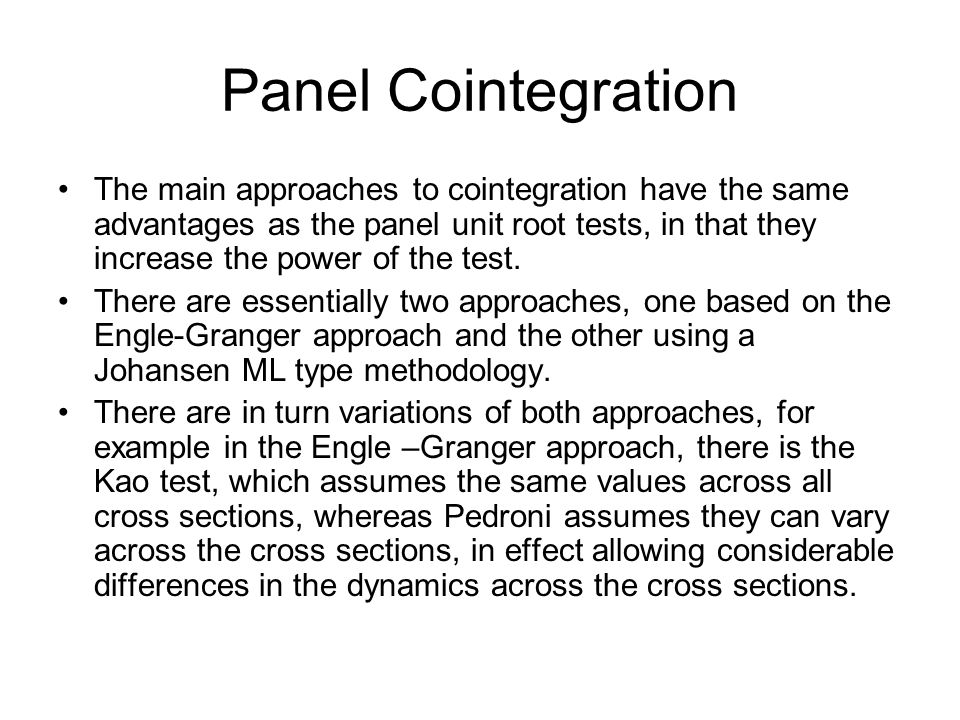 Panel Cointegration