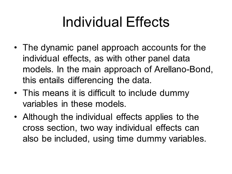 Individual Effects
