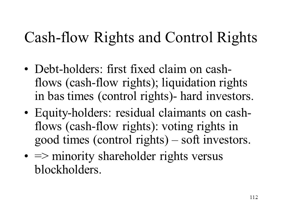 Cash-flow Rights and Control Rights