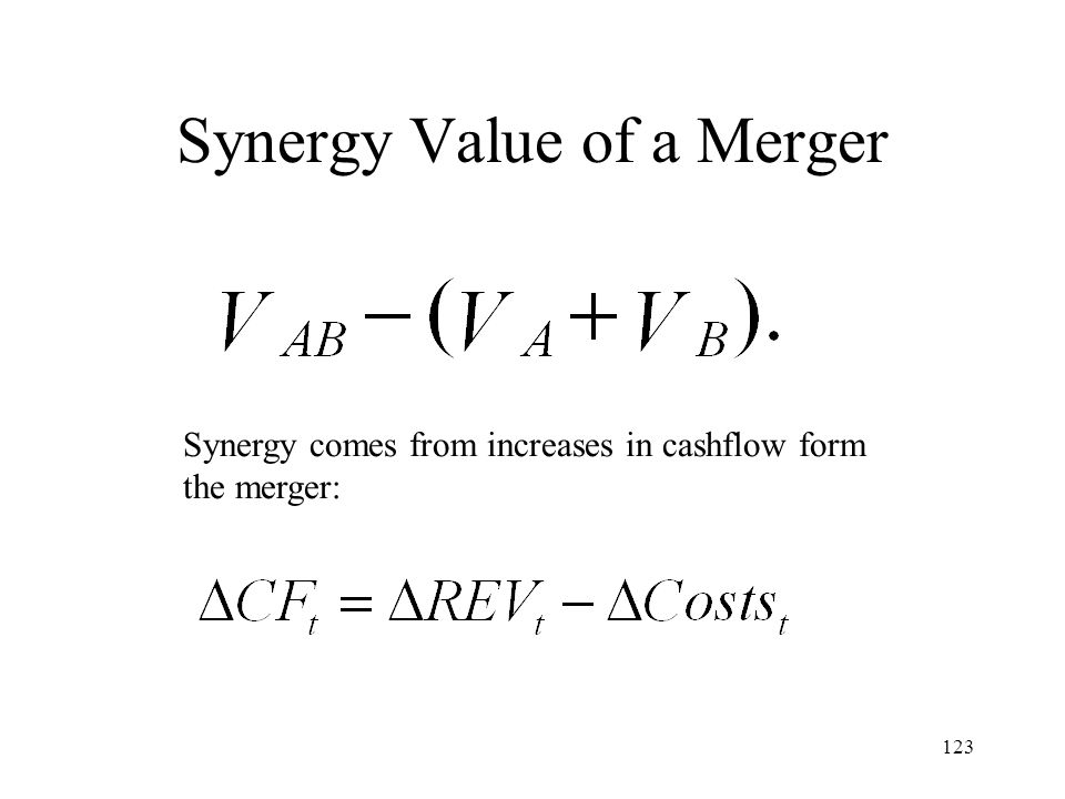 Synergy Value of a Merger