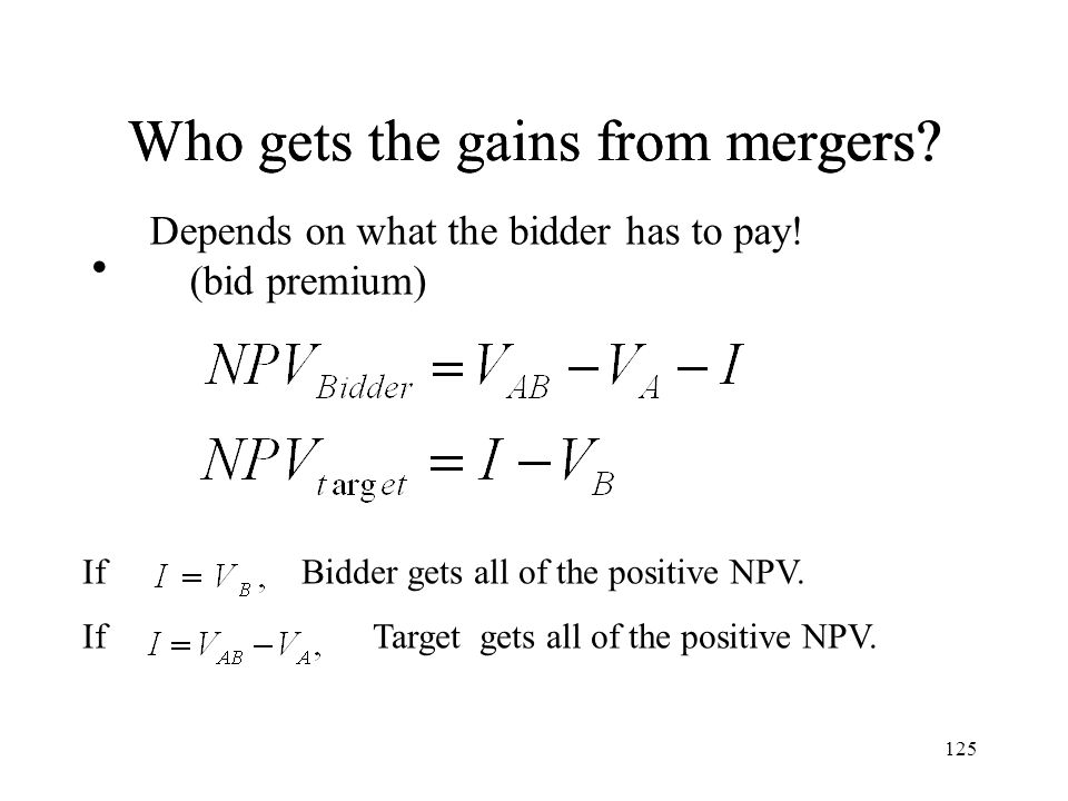 Who gets the gains from mergers