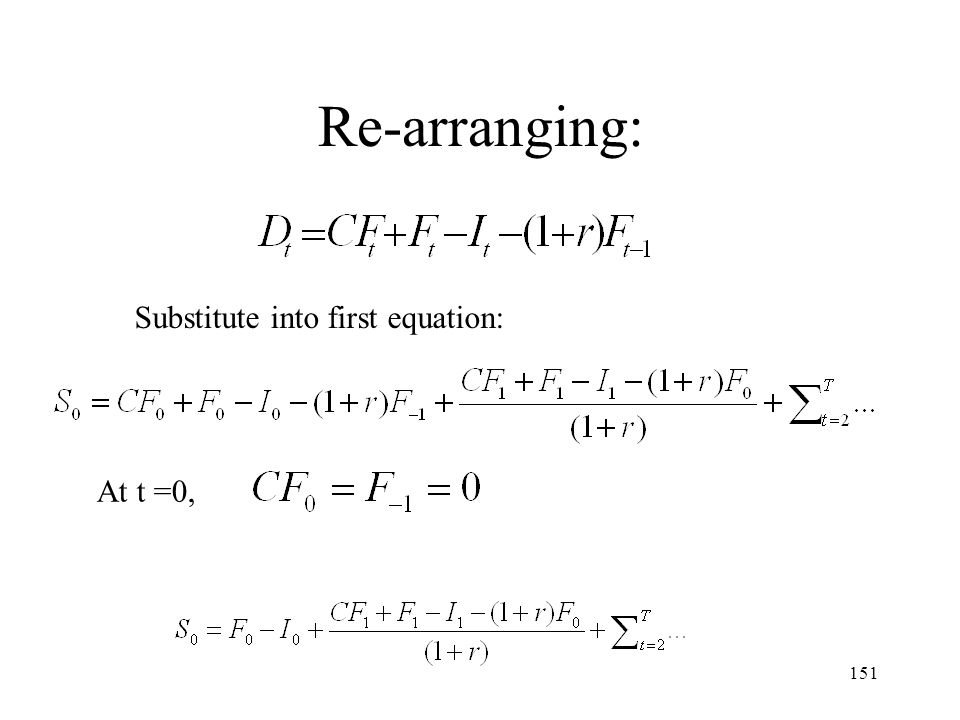 Re-arranging: Substitute into first equation: At t =0,
