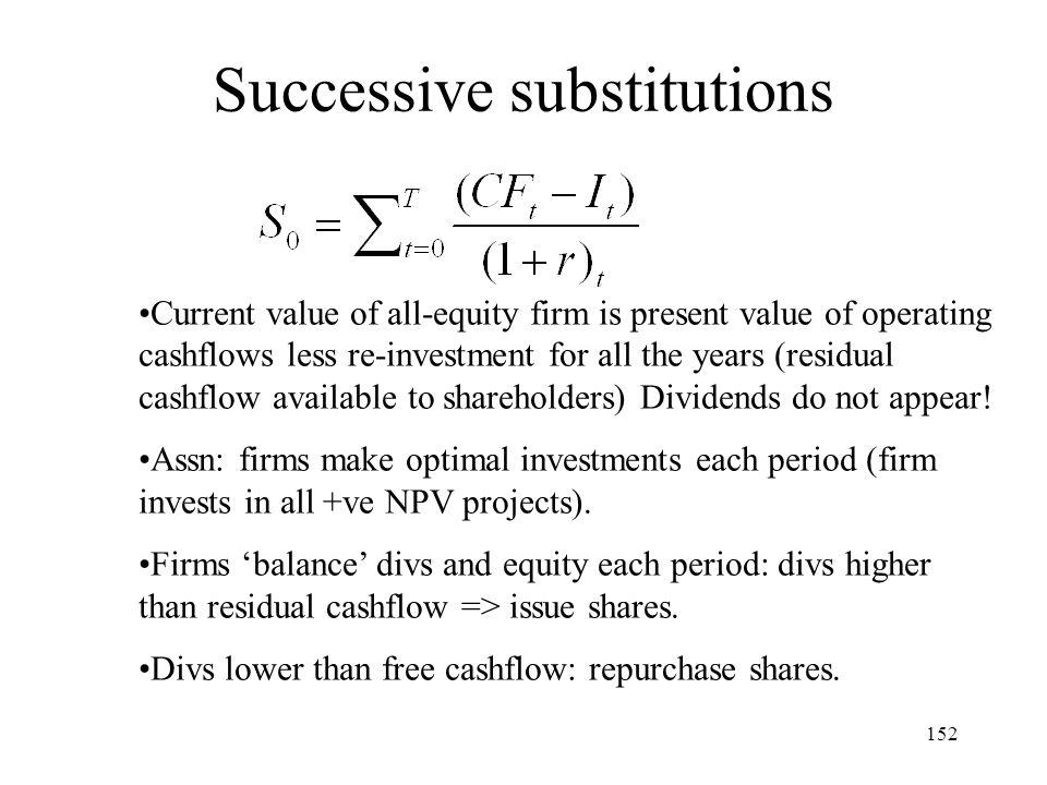Successive substitutions