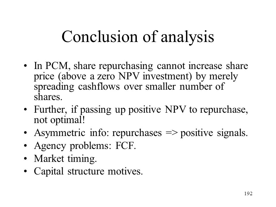 Conclusion of analysis