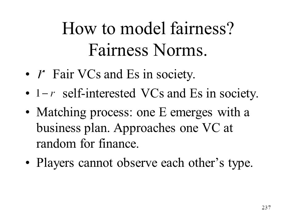 How to model fairness Fairness Norms.