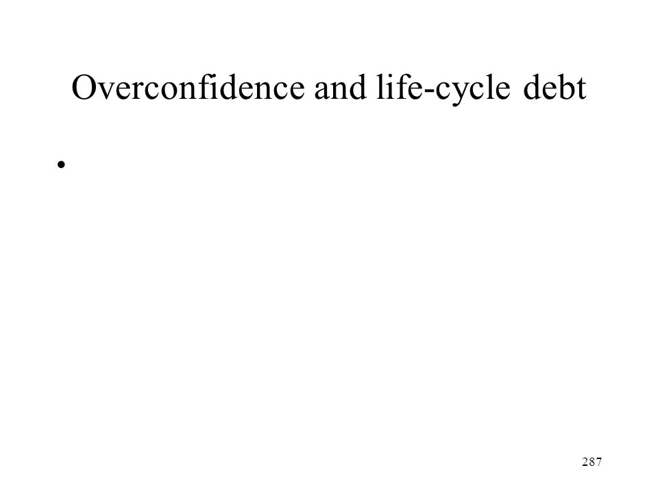 Overconfidence and life-cycle debt