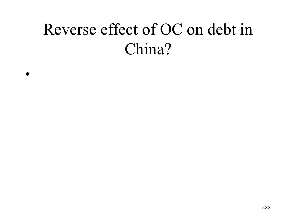 Reverse effect of OC on debt in China