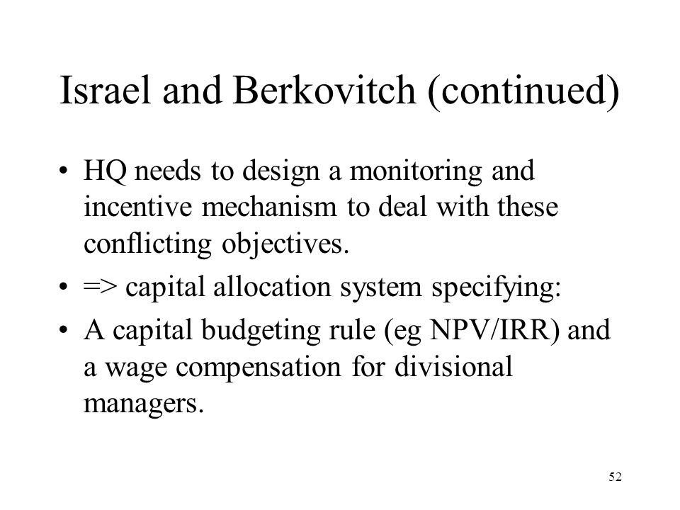 Israel and Berkovitch (continued)
